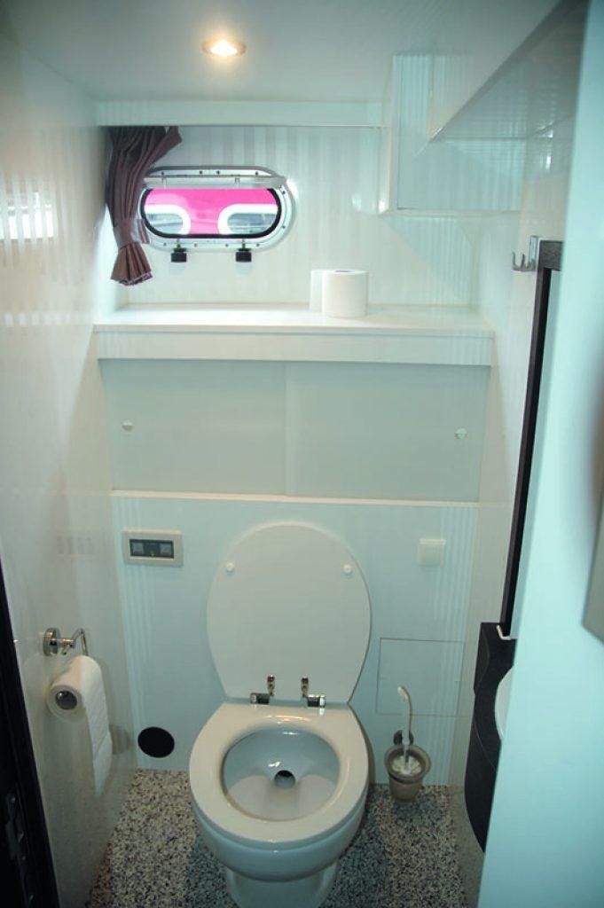 Caro 18 Toilette im Achterschiff