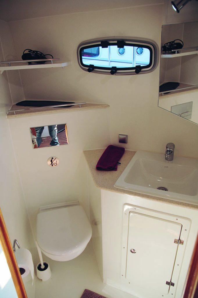 River 24 WC-Raum mit Sp++ltoilette wie zuhause