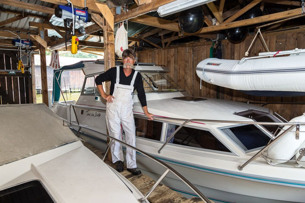 Keramiker mit Boot